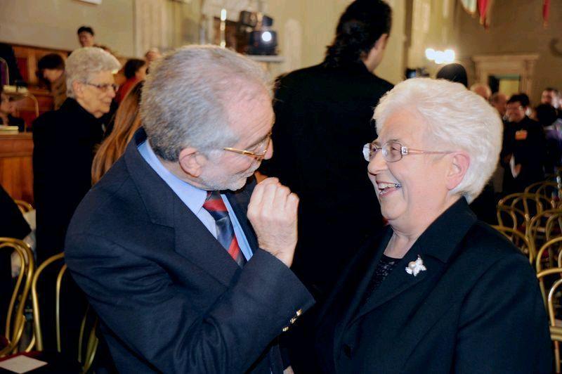 13 marzo 2010- Roma al Campidoglio con Maria Voce Emmaus, in ricordo di Chiara Lubich, fondatrice dei Focolari.