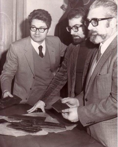 1967-Col collega Caforio alla Compagnia Speciale CC maxi-processo La Barbera 112 a Catanzaro