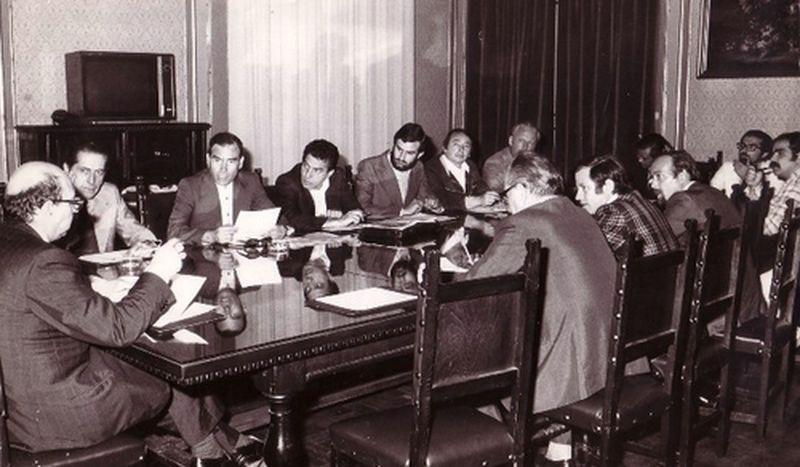 1975 Il Movimento incontra la segreteria della DC-Galloni, Macario
