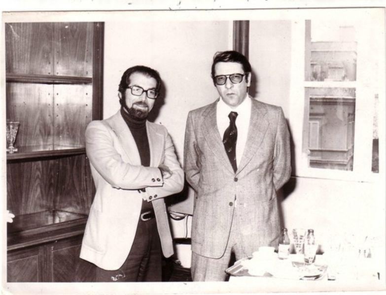 1976 Alla Questura di Roma con il grande amico Peppino Pandiscia