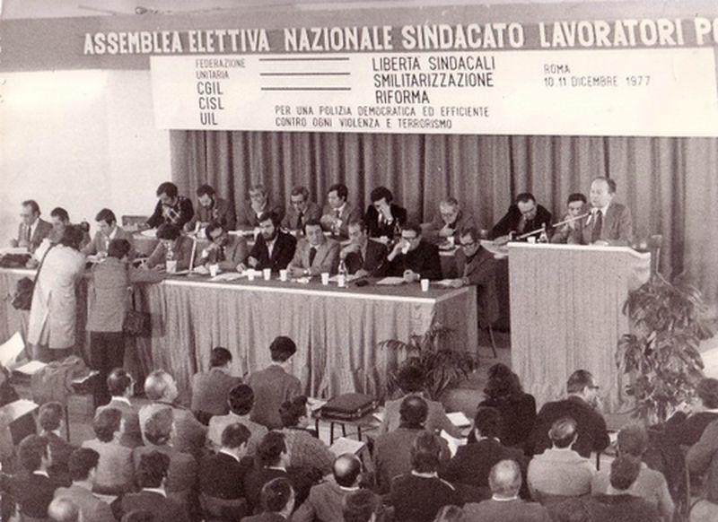 1977-Roma-Prima Assemblea del SIULP parla Felsani