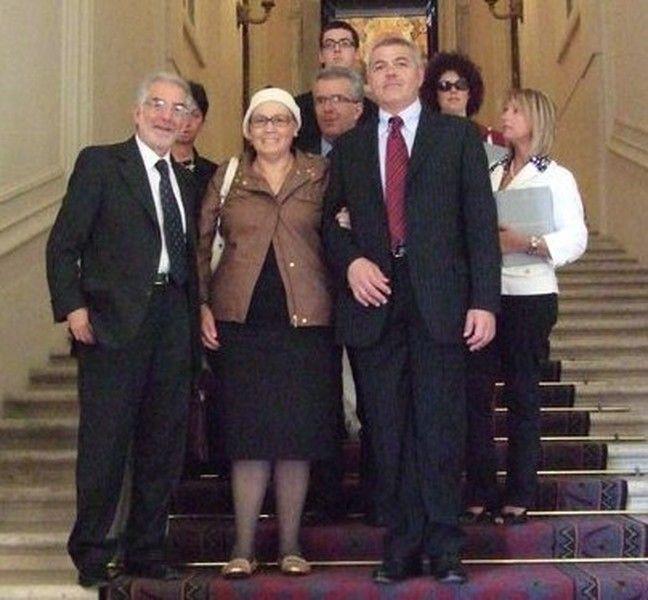 9 maggio, al Quirinale con Francesca Dendena, presidente Associazione Familiari vittime strage di Piazza Fontana.