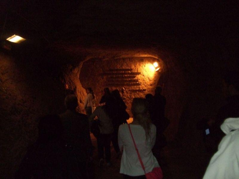 Con gli studenti nelle grotte dove 335 persone vennero trucidate dai nazisti.