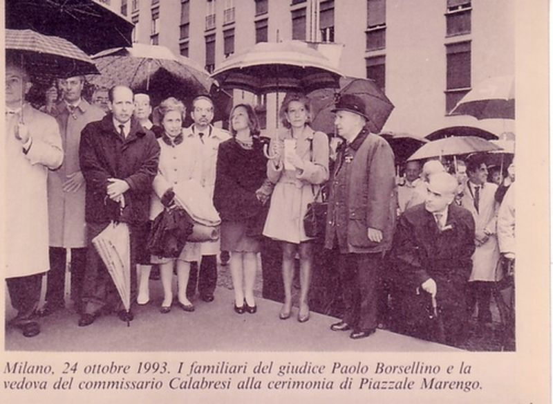 Milano 1997-Con Gemma Calabresi e familiari di Paolo Borsellino al Premio Calabresi a Milano