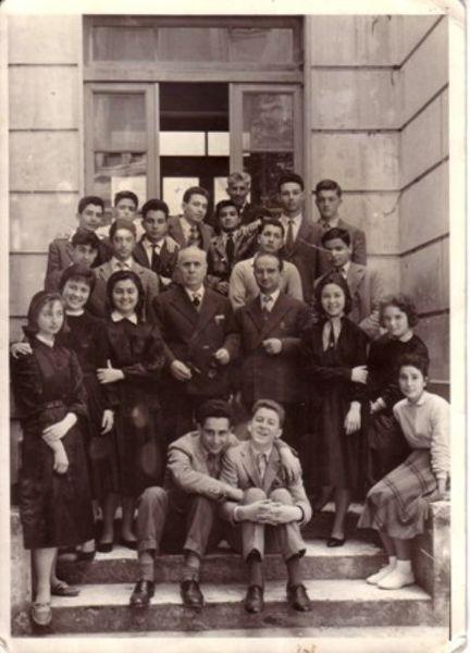 Pescara-1957-II D del Liceo Classico G.D'Annunzio-Con Emilio Alessandrini