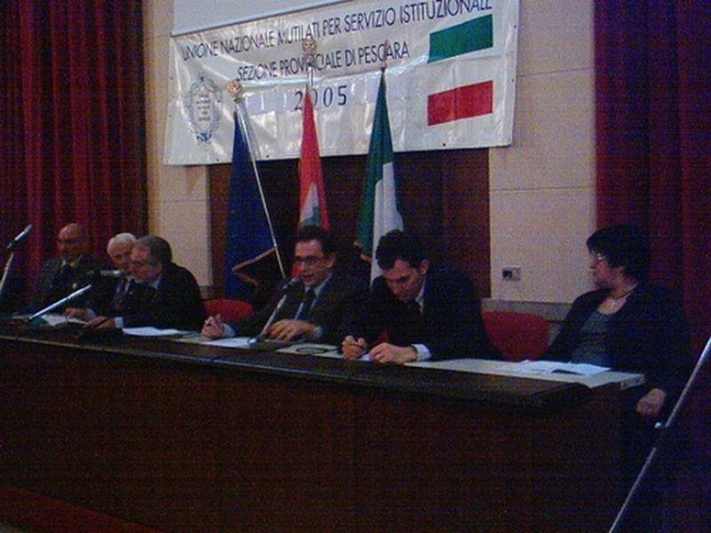 Pescara 29 gennaio 2005-Ricordo presso il Liceo Classico G. D'Annunzio di Emilio Alessandrini