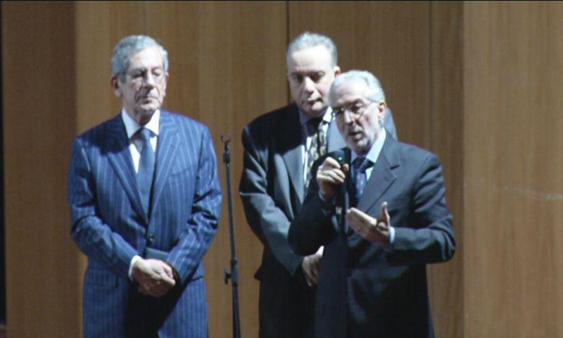 Pescara 29 gennaio 2011, Ennio Di Francesco, presidente dell'Associazione, formula il saluto-commiato della stessa.
