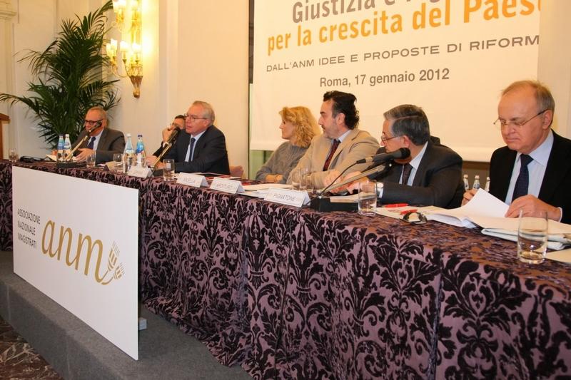 Roma 17 gennaio 2012 convegno ANM con Davigo. Palamara, Greco