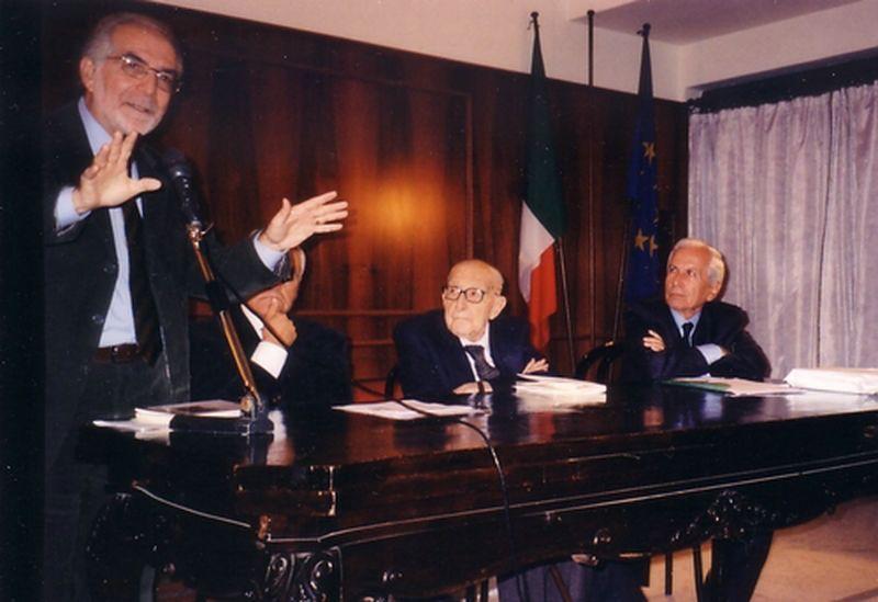 Roma, novembre 2008 con Giuliano Vassalli in ricordo del giudice Antonino Saetta