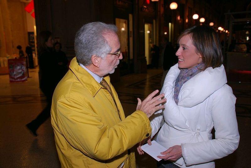 Roma- ottobre 2010- con Ilaria sorella di Stefano Cucchi il ragazzo arrestato e lasciato morire in ospedale
