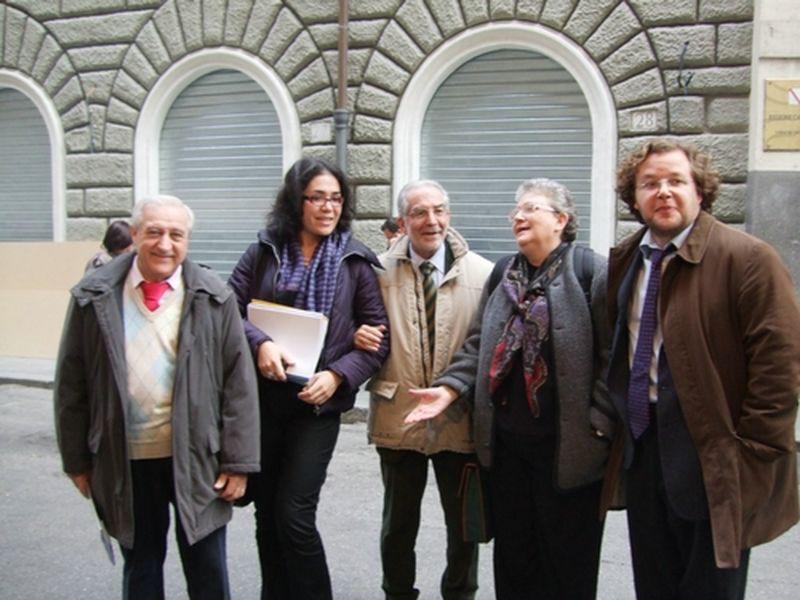 con Agnese Moro, Benedetta Tobagi, Manlio Milanni, Luca Tarantelli.